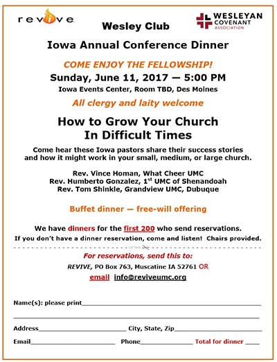 Iowa Annual Conference Dinner